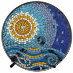 peacock pattern could work well for round table top mosaic zaltana outdoor accent ocean black iron home improvement blue lamps bedroom types furniture the living room target wood 150x150