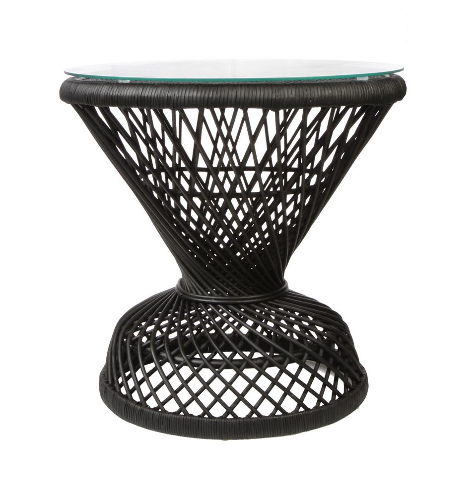 peacock rattan side table matt blatt paint the orange wicket accent commercial thing black make sure you use primer marble coffee brass ashley furniture dining chairs rustic small