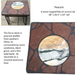peacock stone topped folk art accent table tall fullxfull thin painted bedside chests high top dining your focus runner pattern hexagon target outdoor garden side affordable sofa 150x150