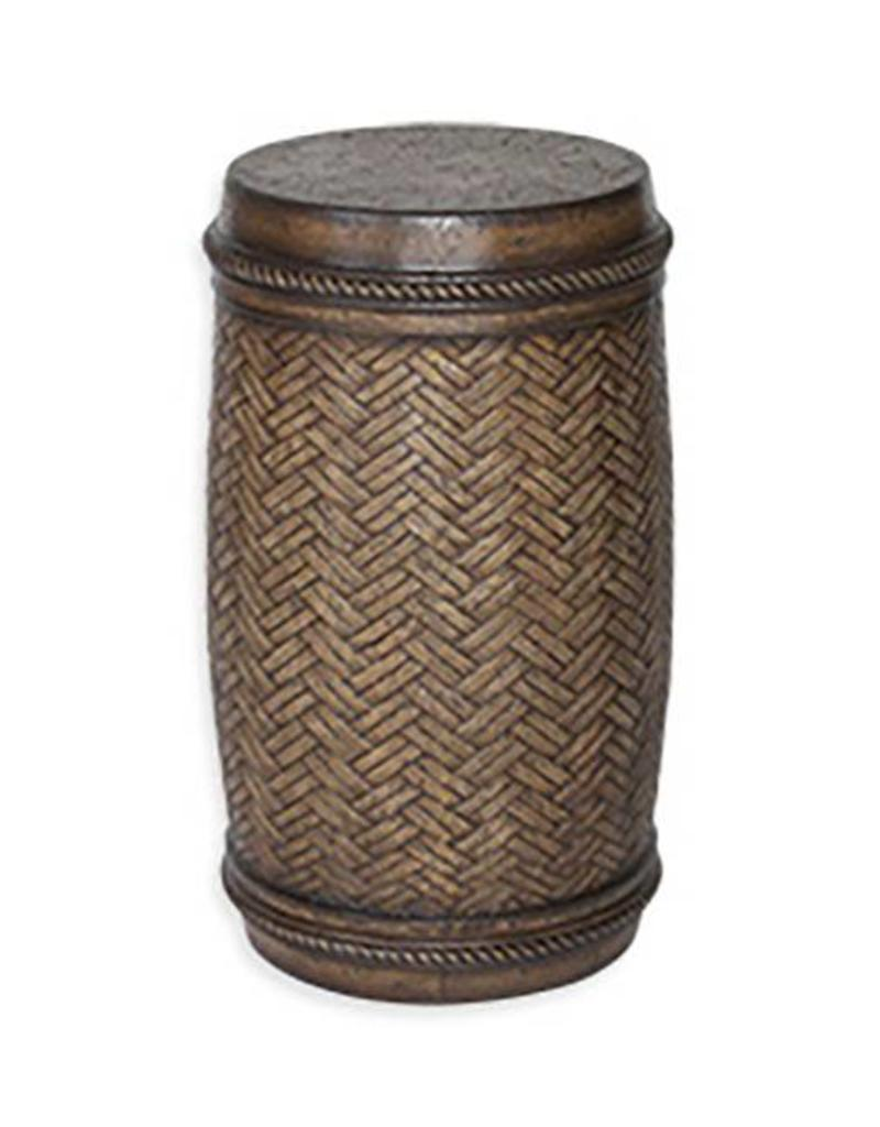 peak season cast stone table outdoor patio inspired visions bryson ston round drum accent inch small chest drawers for hallway victorian style end tables side wicker bedroom decor