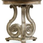 pedestal accent table furniture wooden calm color for living room hooker scroll black round pottery barn traditional side tables rustic modern chairs pier sofa great red chest 150x150