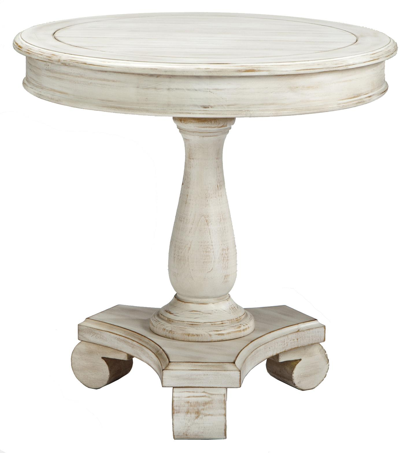 pedestal accent table simplify round with turned base signature pottery barn rustic console furniture ashley set mosaic bistro antique dining room half moon simple white desk day