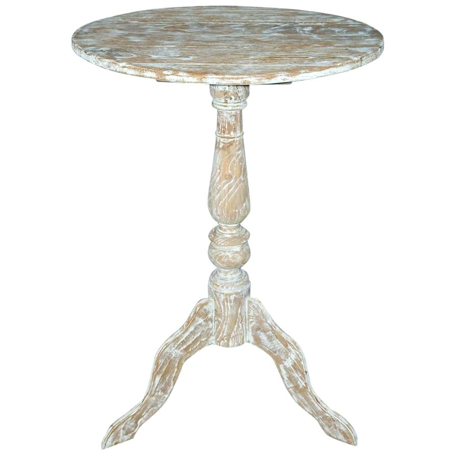 pedestal side table silver style white washed for crate and barrel black round accent ceramic outdoor circular furniture dining with wicker chairs apothecary coffee pottery barn