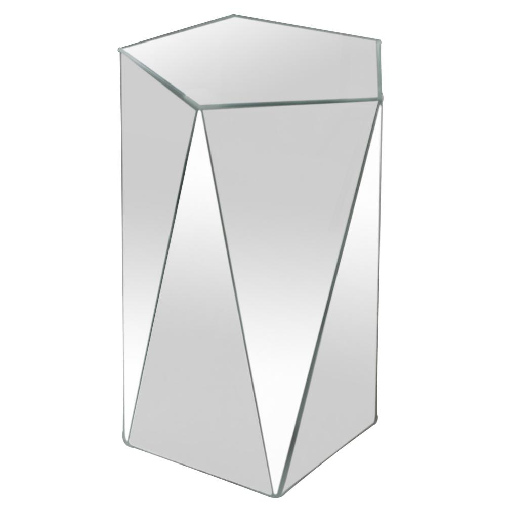 pentagonal mirrored accent table lee lighting white room divider side designs lift top leick chairside end rattan cool bar home design nightstands carpet reducer strip patio swing