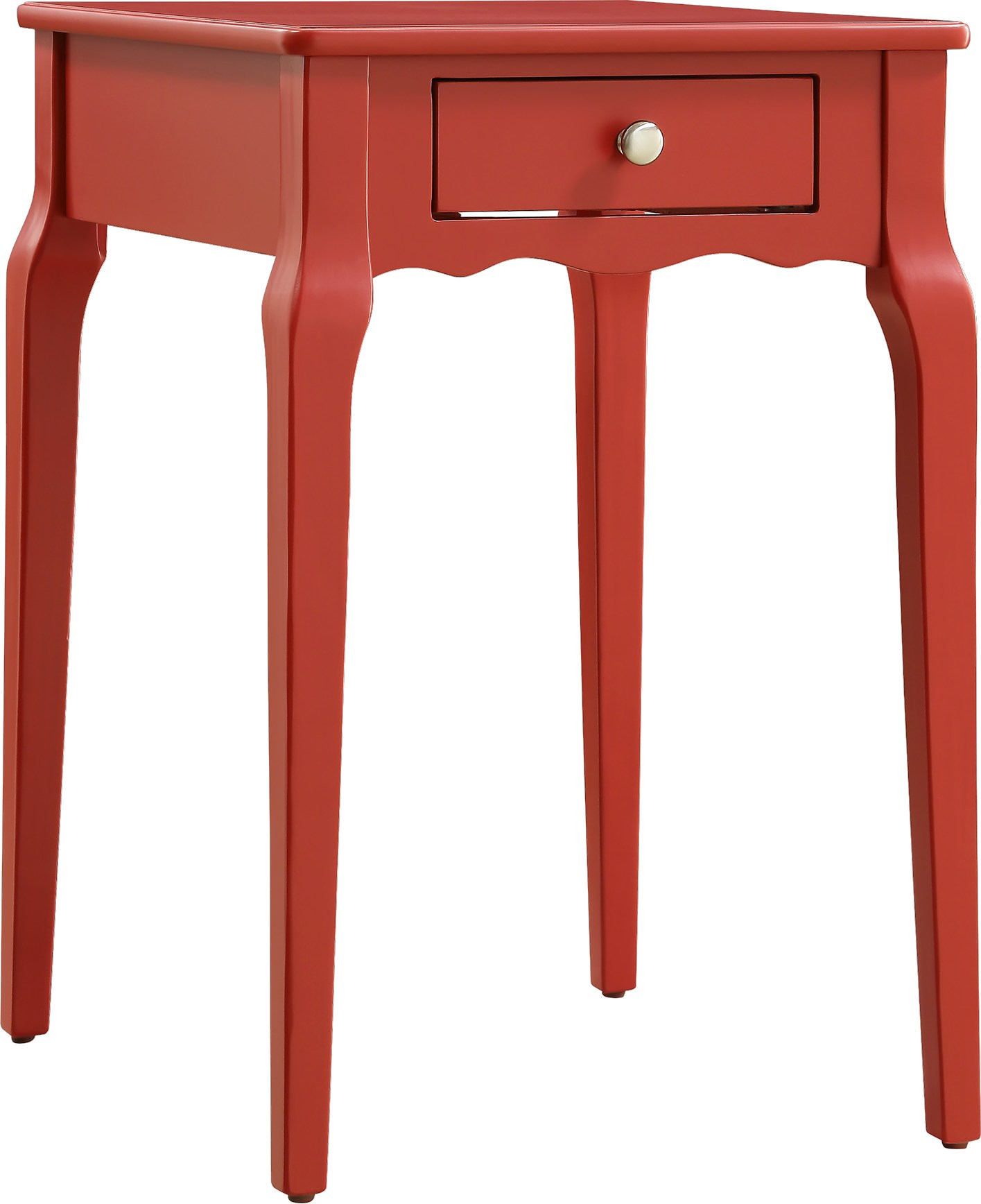 percel red accent table tables colors replacement furniture legs teak garden set distressed metal side drawer chest bunnings outdoor vinyl floor threshold wedding registry ideas