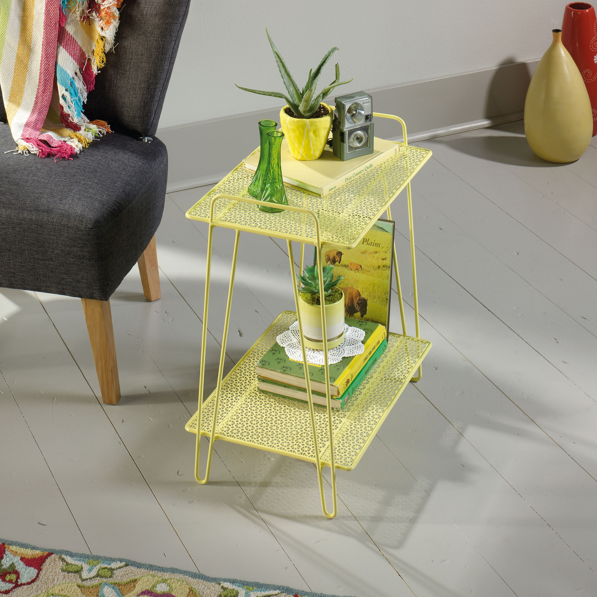 perforated shelves contemporary accent table yellow mathis sgs armoire desk extendable marble dining patio furniture for small patios bistro diy legs ideas large sofa best room