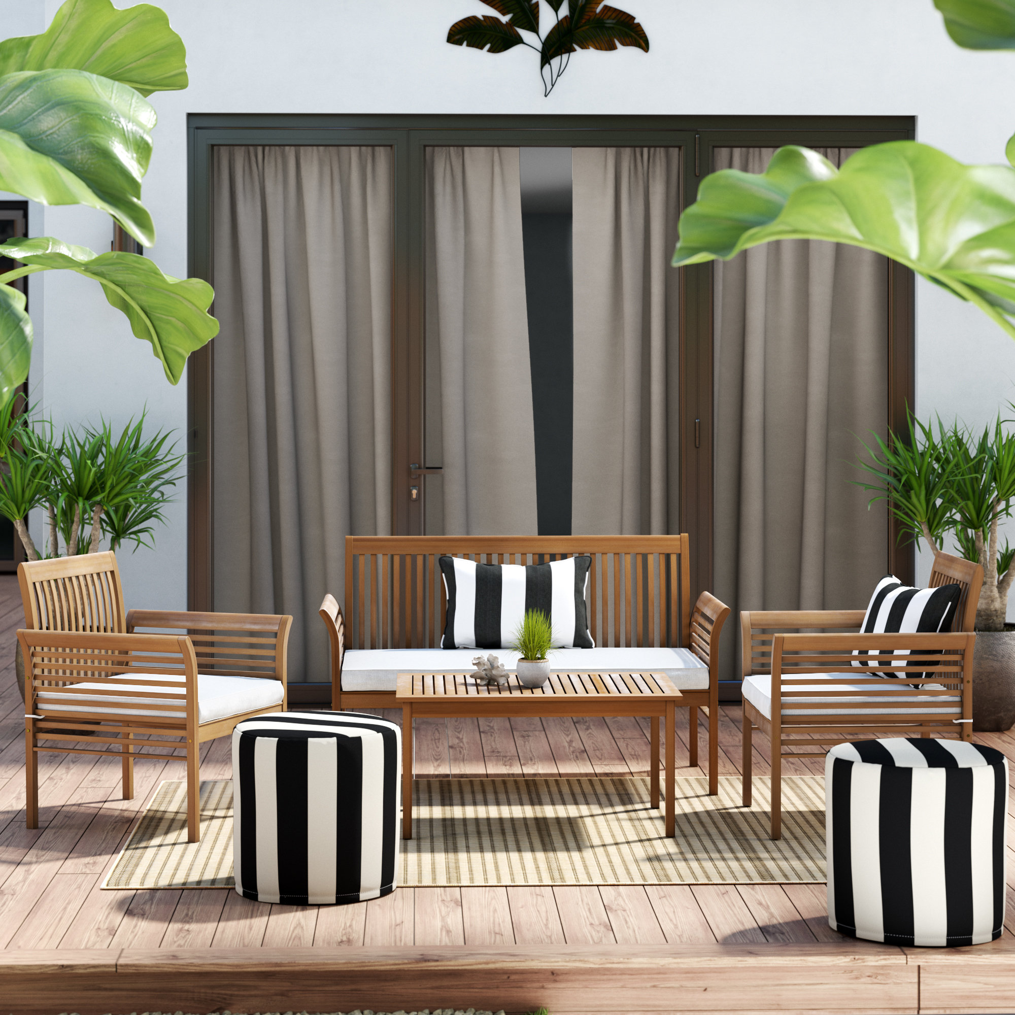 person patio conversation sets you love glynn piece sofa set with cushions round metal accent table quickview wooden threshold bar grey marble top dark wood and coffee chairside