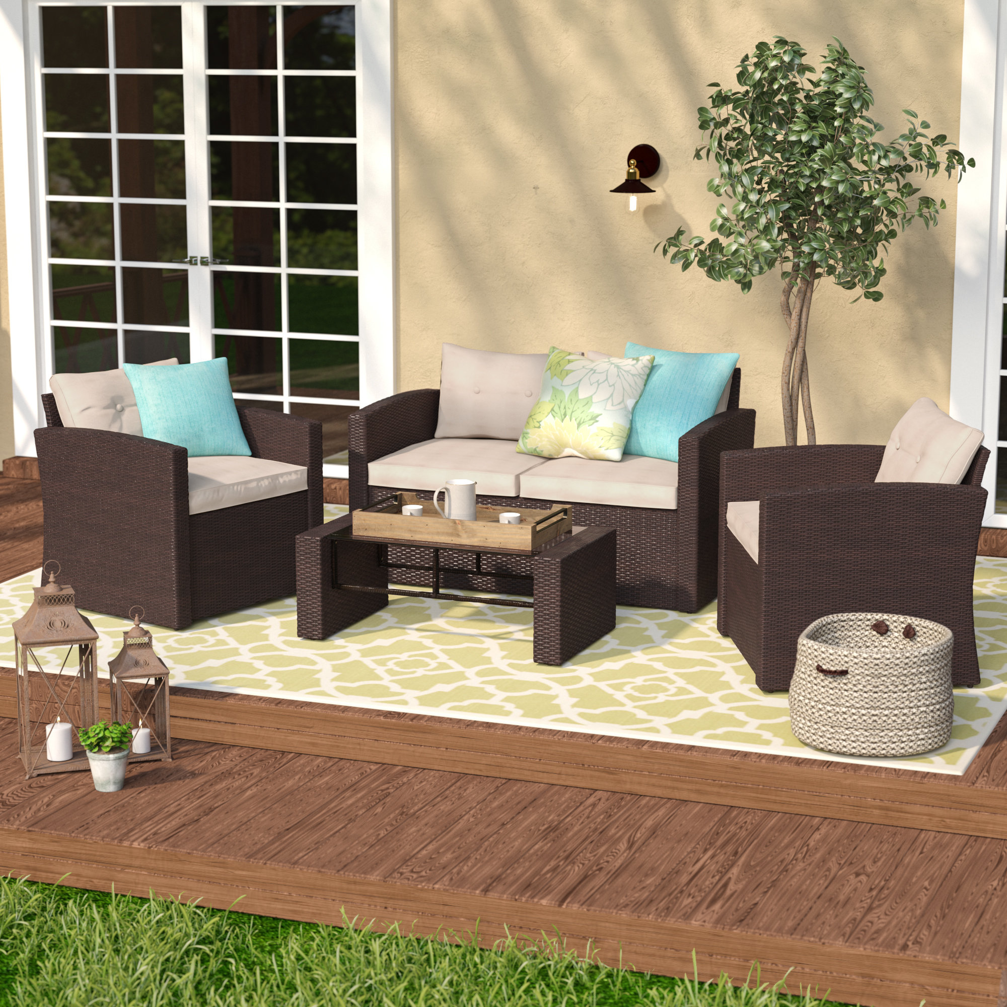 person patio conversation sets you love rawtenstall piece sofa set with cushions round metal glynn accent table quickview small mosaic dark wood and coffee wooden threshold bar