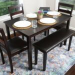 person piece kitchen dining table set accent pieces leather chairs bench espresso brown chair sets glass end with shelf silver living room accessories counter tile patio outdoor 150x150