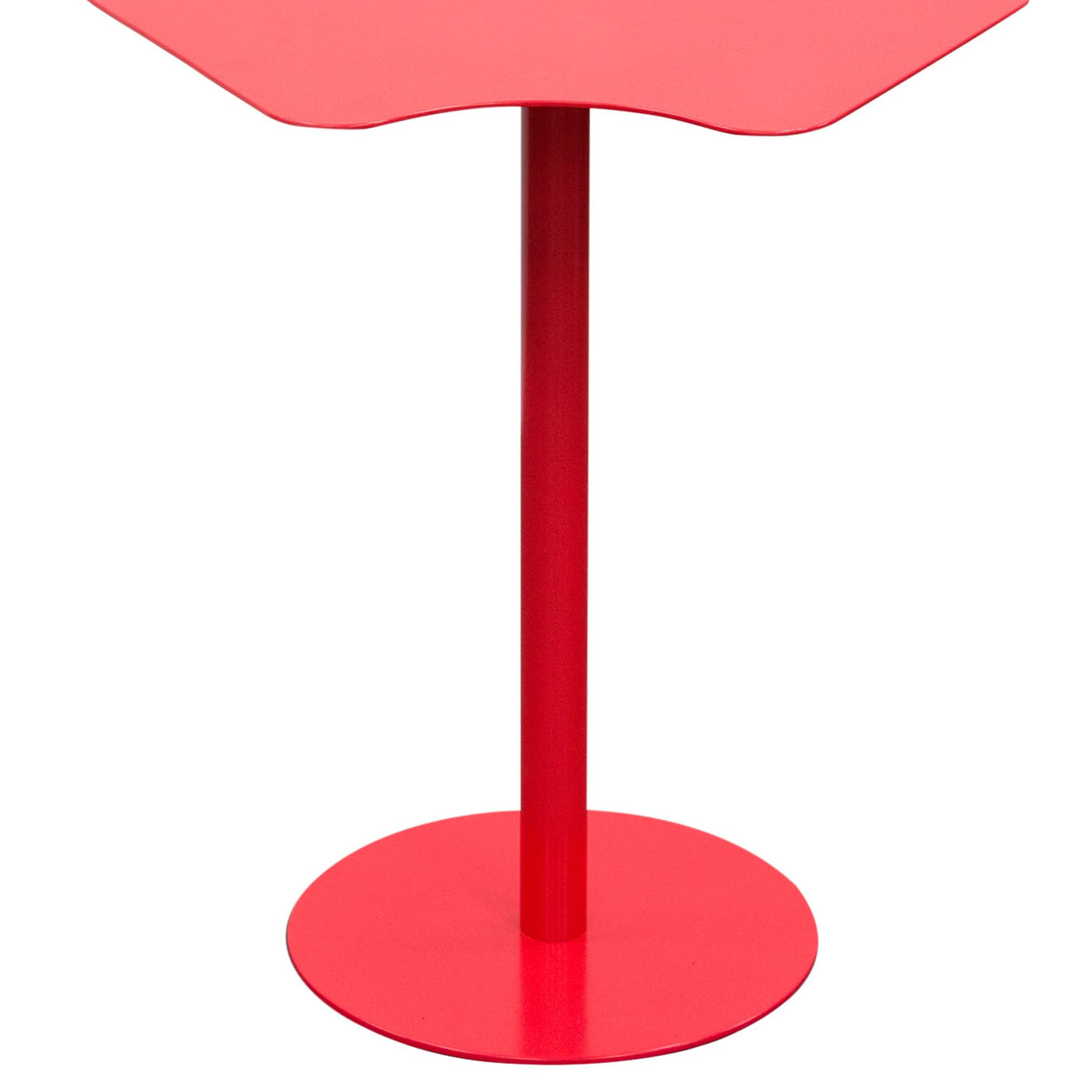 peta powder coated metal accent table matte red finish diamond petaetre more views product description the patio umbrella base glass coffee and end sets decorative accessories for