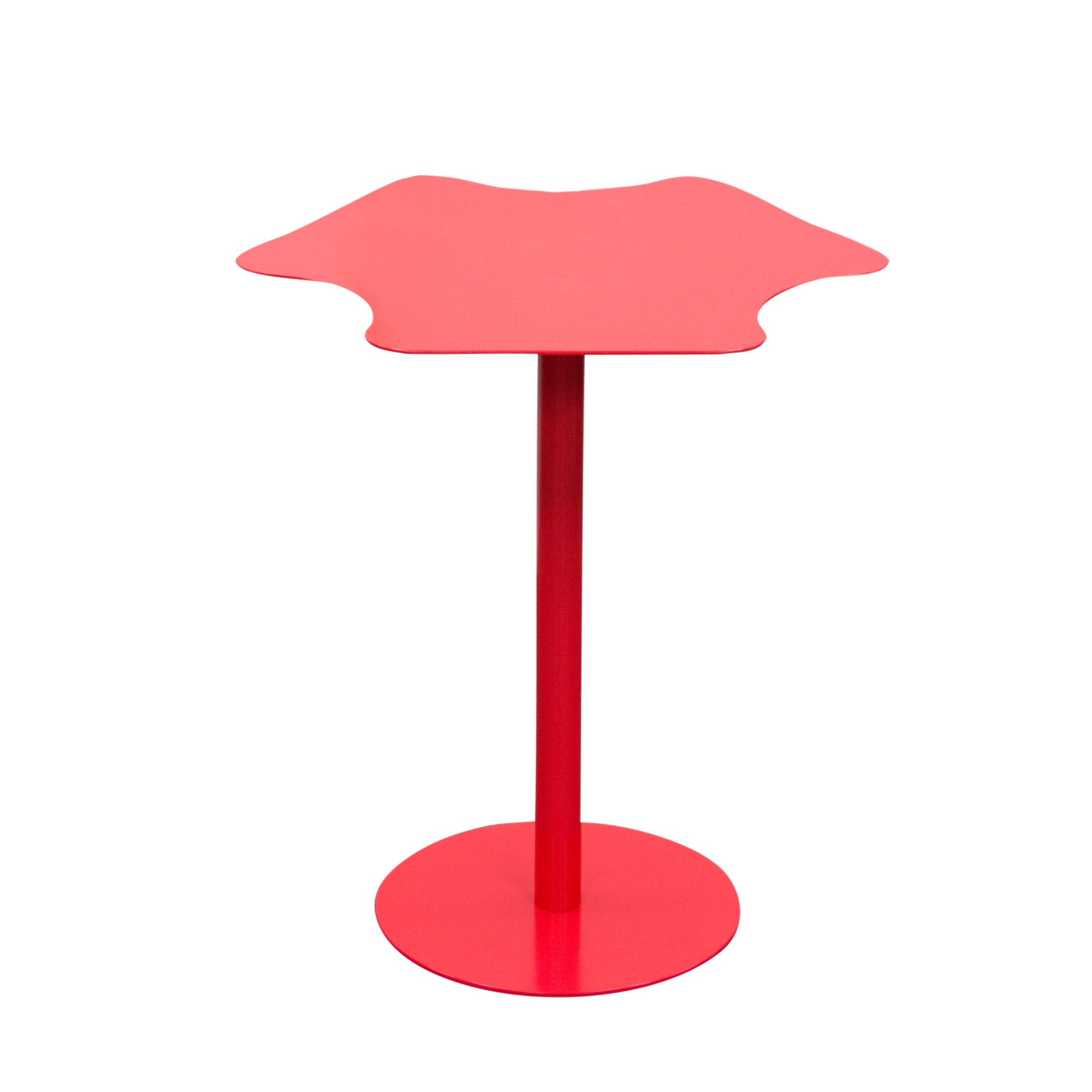 peta powder coated metal accent table matte red finish diamond petaetre pink more views product description the trestle base dale tiffany lamps antique roadshow teal coffee pier
