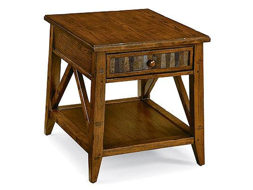 peters revington creekside drawer end table with stone inlay products color wood accent ashley signature coffee gray brown tables dining room centerpieces side chairs arms razer
