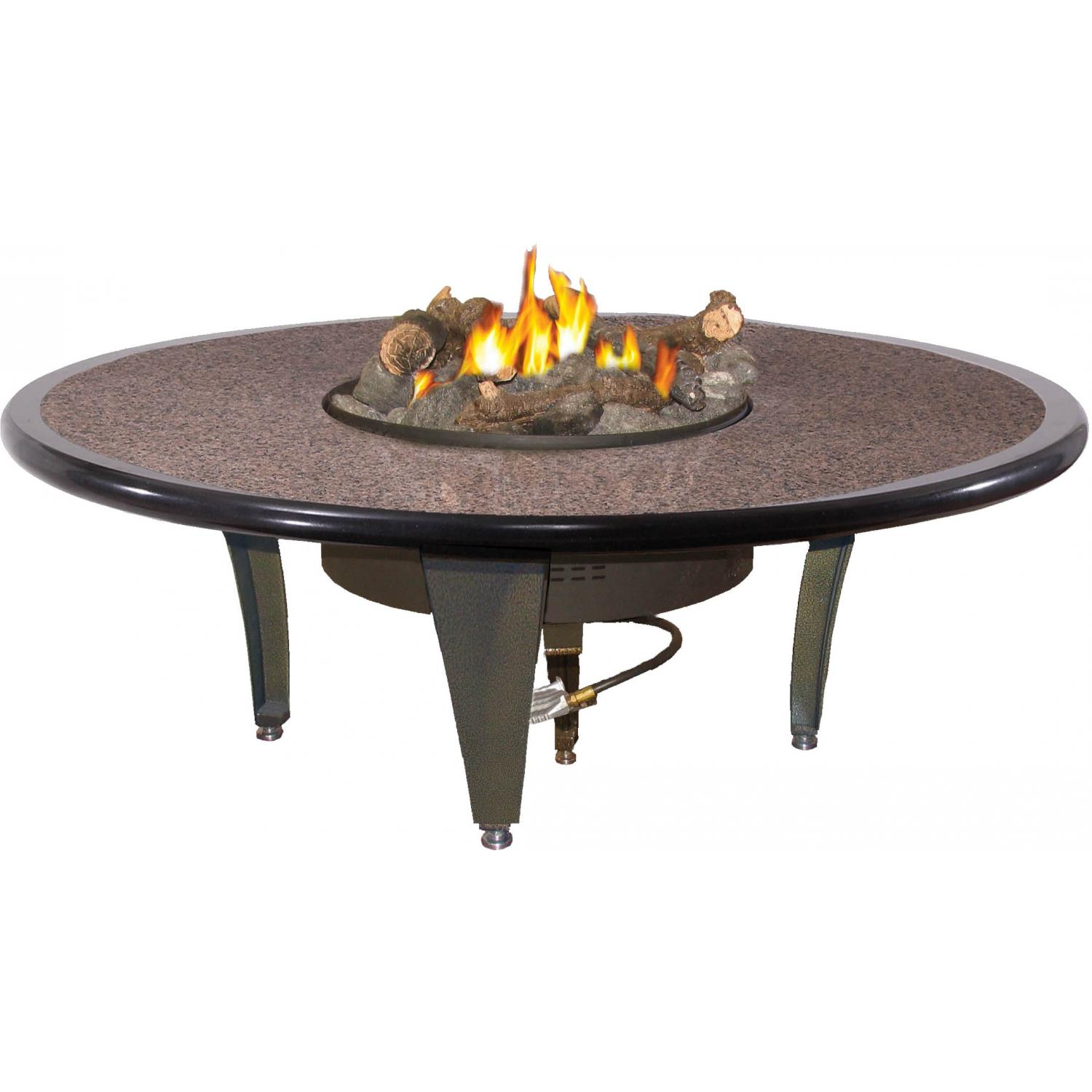 peterson outdoor campfyre inch natural gas electronic off grill side table remote granite fire pit small accent chairs high top set patio dining sets clearance cherry occasional
