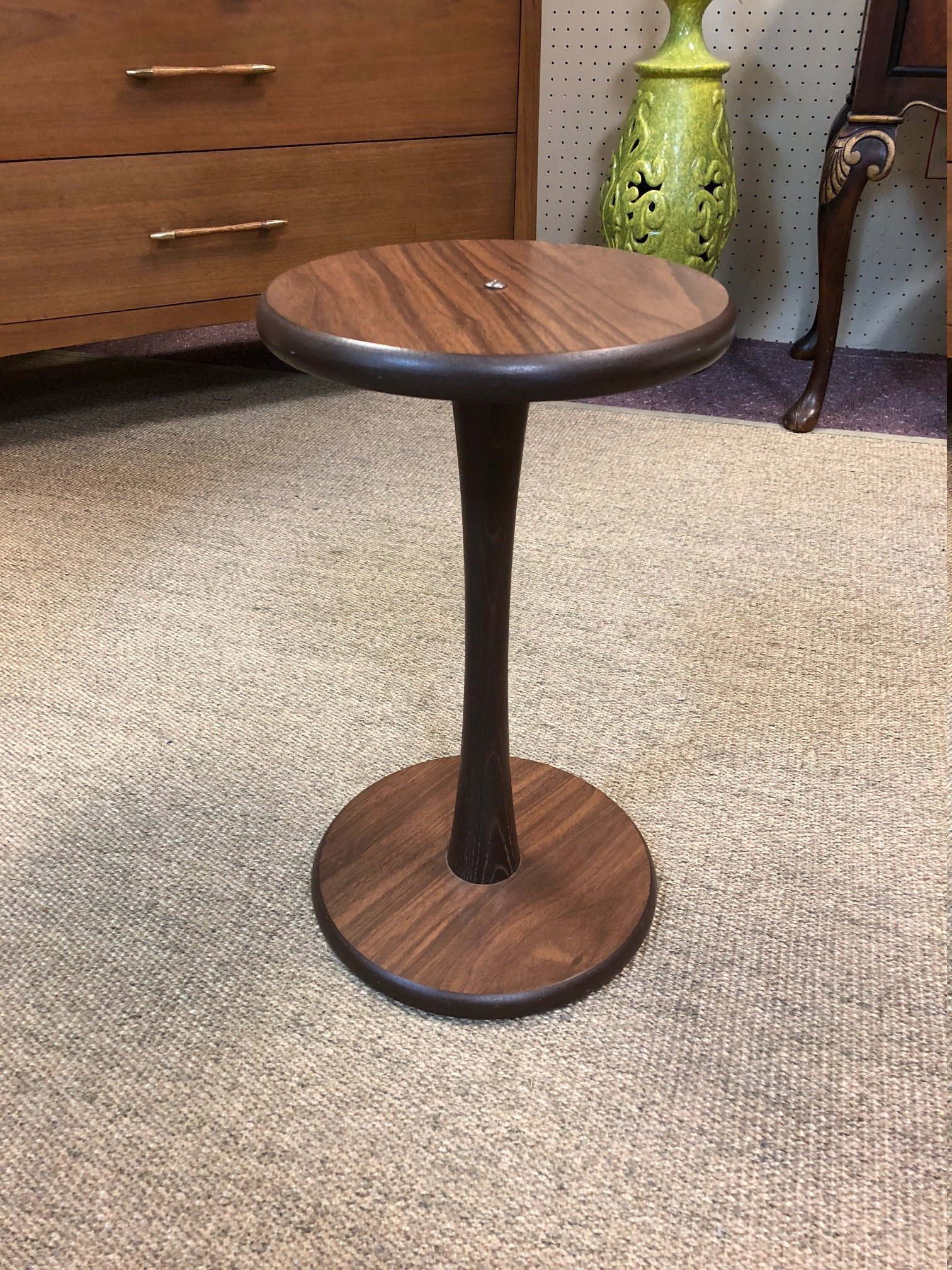 petite mid century modern tulip accent table laminate finish fullxfull blsm cottage furniture used drum throne jeromes outdoor bar stools short pottery barn floor lamp replacement