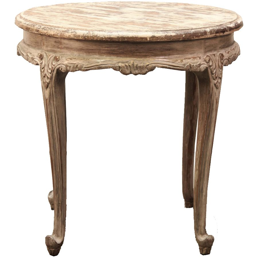 petite round french accent table country living love vintage affordable linens rectangle end with drawer outdoor grill work small square kitchen kitchenette furniture safavieh