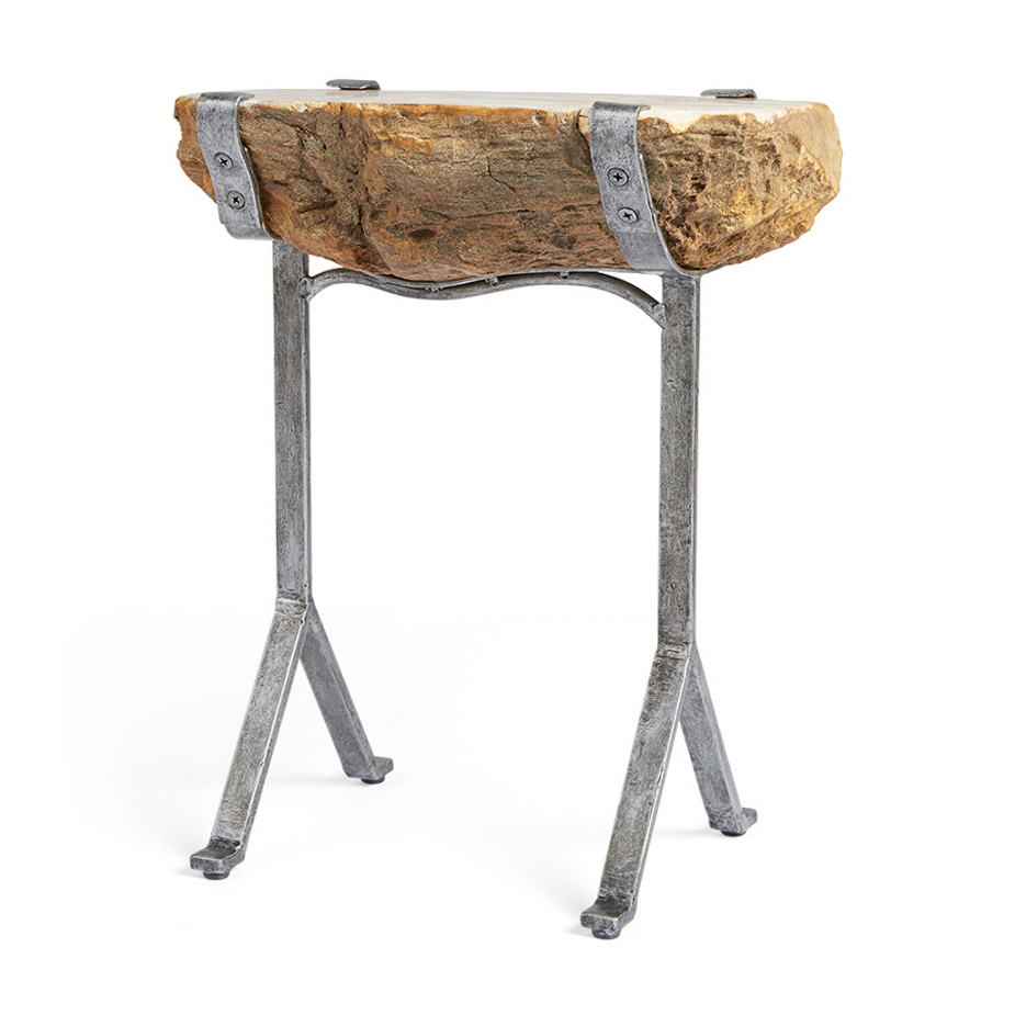 petrified wood accent table that cool yellow side storage ott ikea square nesting tables telephone sofa with drawers wrought iron legs small round glass dining white contemporary