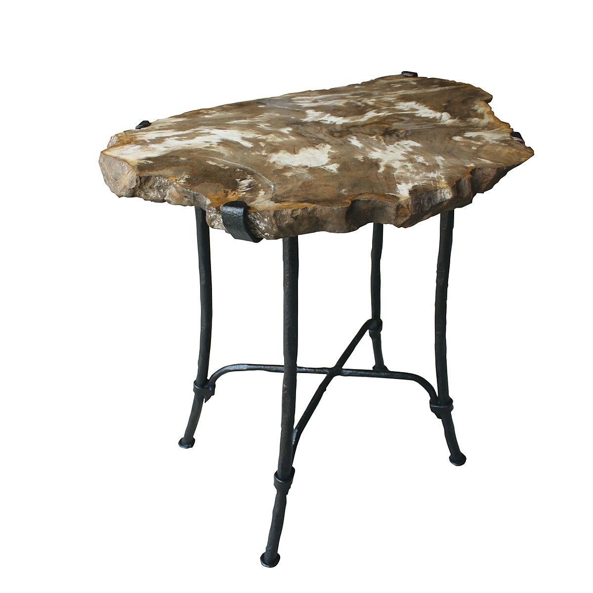 petrified wood mistral end table home decor accent white contemporary coffee walnut bedside pier one furniture lighting seattle wicker tables with drawers step side west elm box
