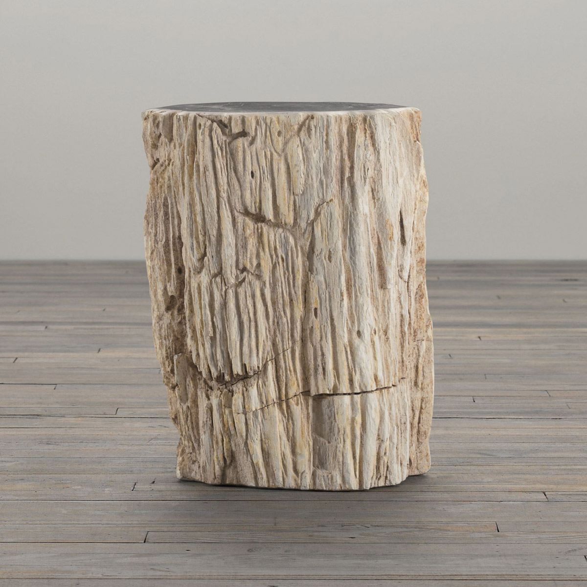 petrified wood stump end table tree trunk accent rectangular outdoor umbrellas condo furniture toronto sauder harbor view patio covers portable shade umbrella couch set distressed