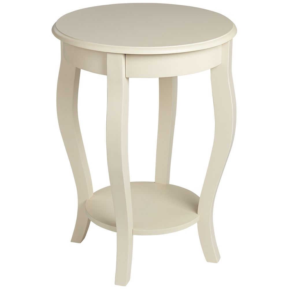 peyton round antique white accent table style products winsome wood cassie with glass top cappuccino finish sasha linen cloth acrylic console shelf coffee base wine rack cupboard