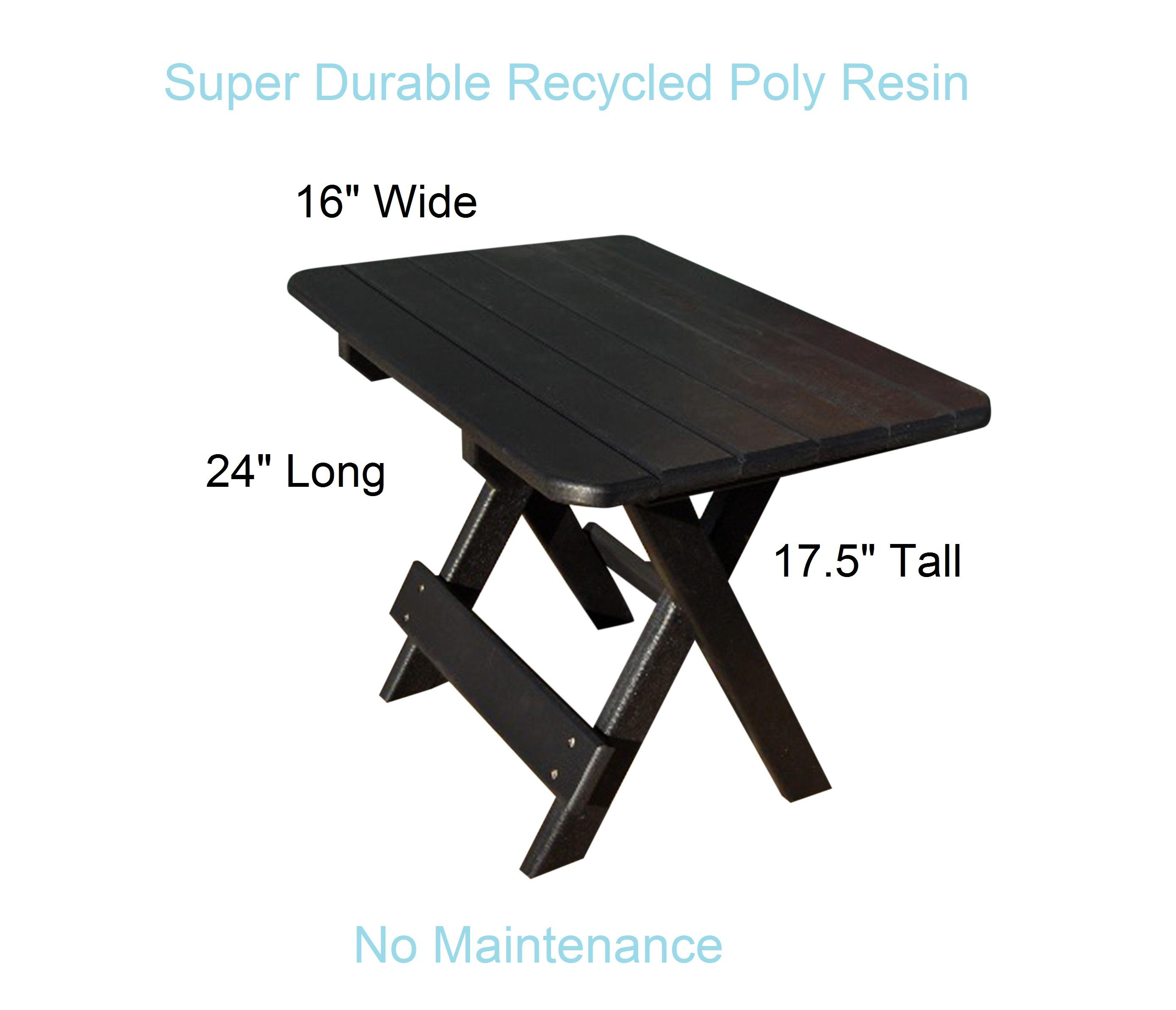 phat tommy recycled poly resin folding side table outdoor view larger turquoise furniture floor threshold white rectangle tablecloth bunnings chairs toronto ballard designs chair