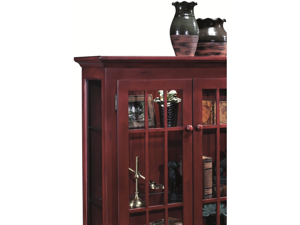 philip reinisch colortime red barlow two door display console with products color accent table glass doors redbarlow small storage cabinet tiffany look alike lamps off white end