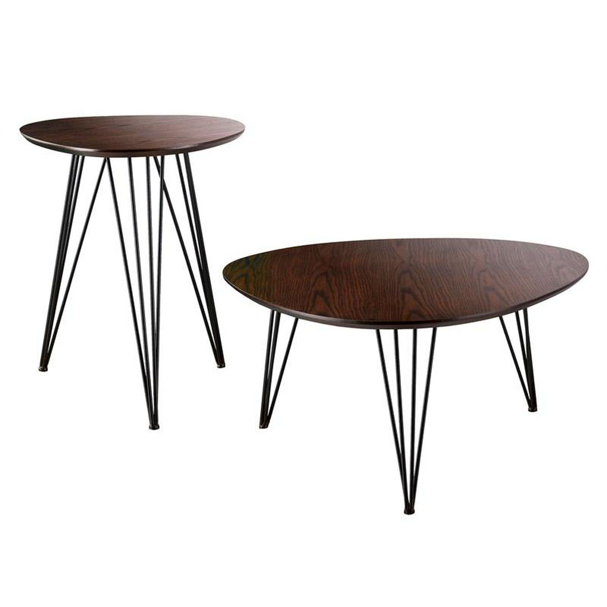 piece accent table set bizchair holly and martin ham main industrial our bannock mid century modern with black hairpin metal legs drawers indoor plant acrylic side tables living