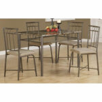 piece cappuccino dining set bizchair monarch specialties msp main top accent side table marble foyer ideas large round cover gold brass country style furniture room with leaf very 150x150