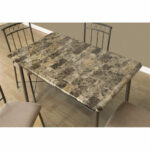 piece cappuccino dining set bizchair monarch specialties msp top accent side table marble our silver metal with faux and upholstered chairs small patio antique very lamps 150x150