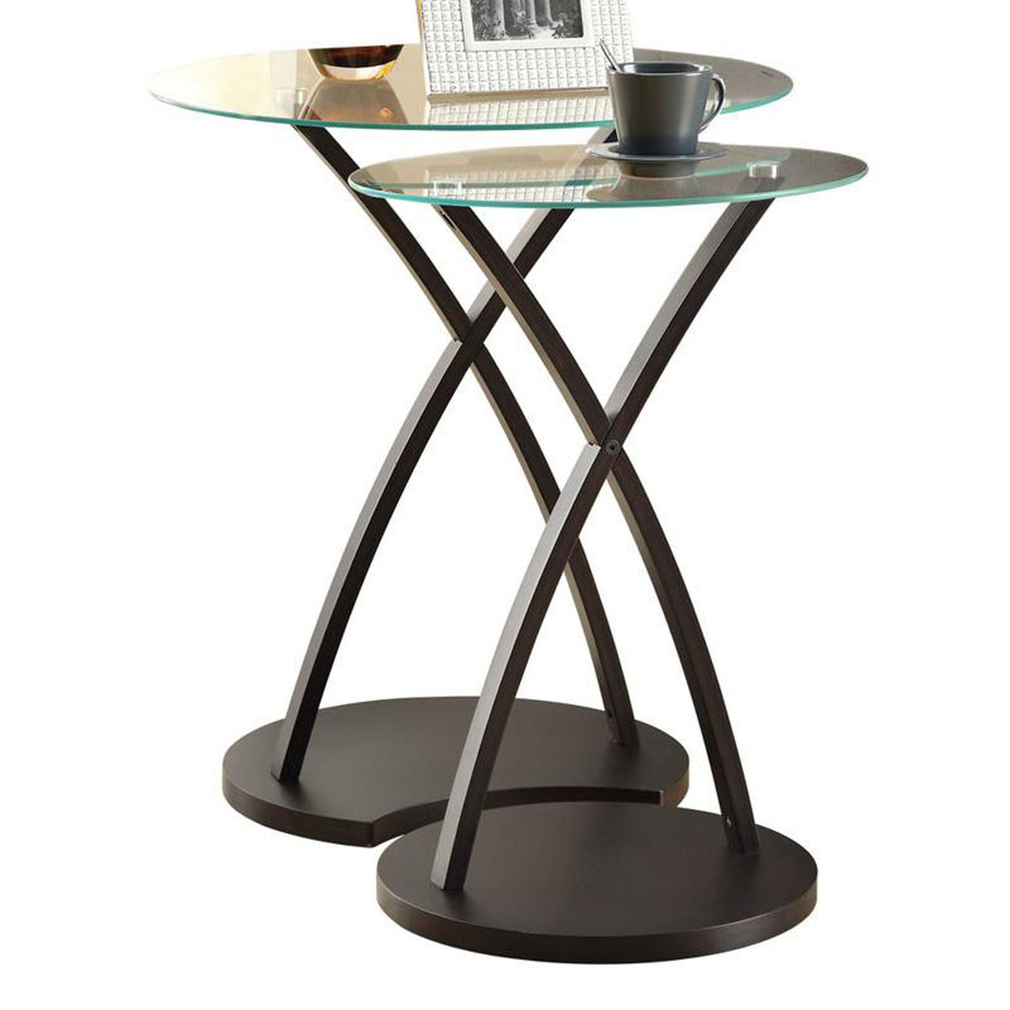piece cappuccino nesting tables bizchair monarch specialties msp main bentwood accent table with tempered glass our set uttermost mirrors deck cover white round pedestal side