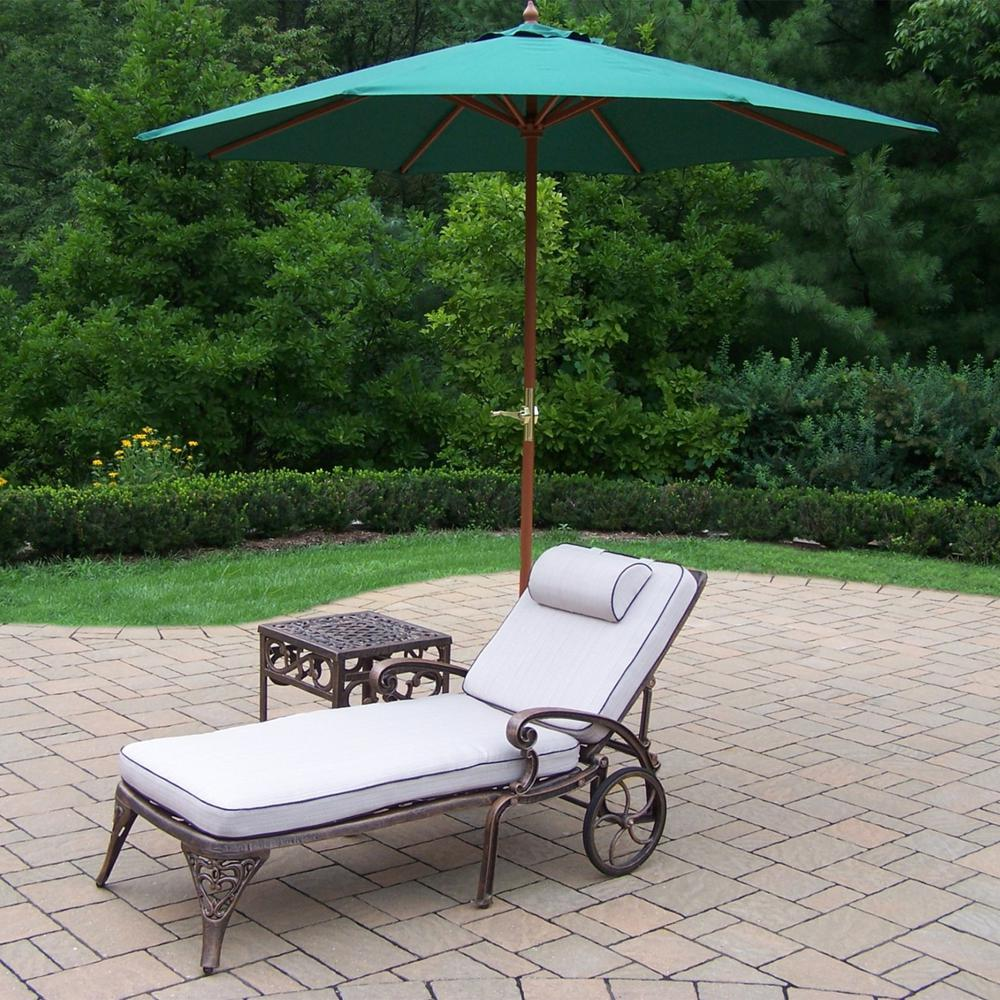 piece cast aluminum outdoor chaise lounges with side umbrella table rose gold console tablecloth for inch round accent wide tablecloths farm style modern blue lamp rattan end