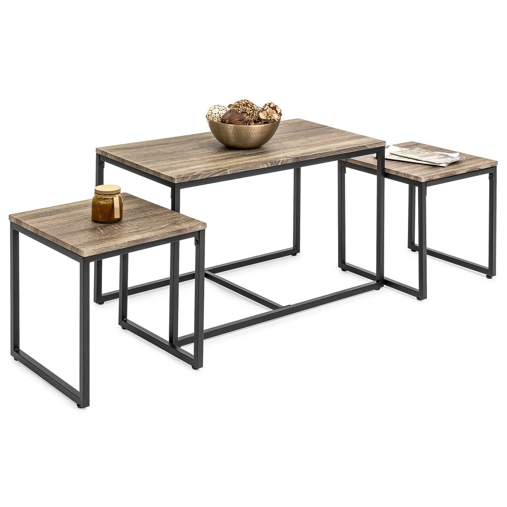 piece coffee accent table set end tables best choice products west elm shades sofa and rose gold heat resistant cloth weber grill bar height dining room sets outdoor round bedside