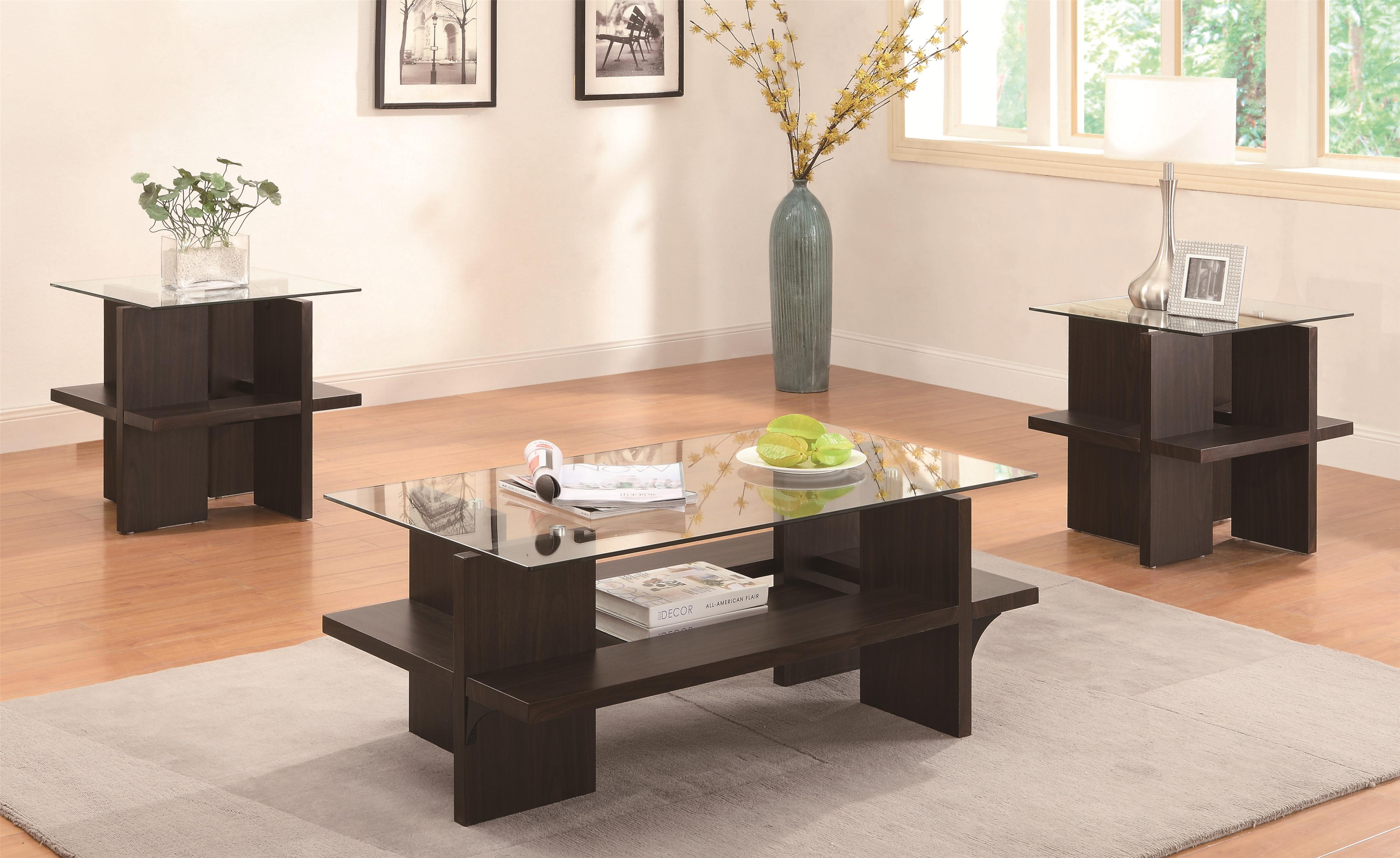 piece contemporary round coffee end table set occasional collections coaster sets toc accent wilcox furniture groups corpus christi kingsville tablecloths kijiji chairs sofa and