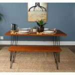 piece hairpin dining set walnut free shipping room essentials accent table today buffet long hallway knotty pine bookcase small ginger jar lamps easy christmas runner patterns 150x150