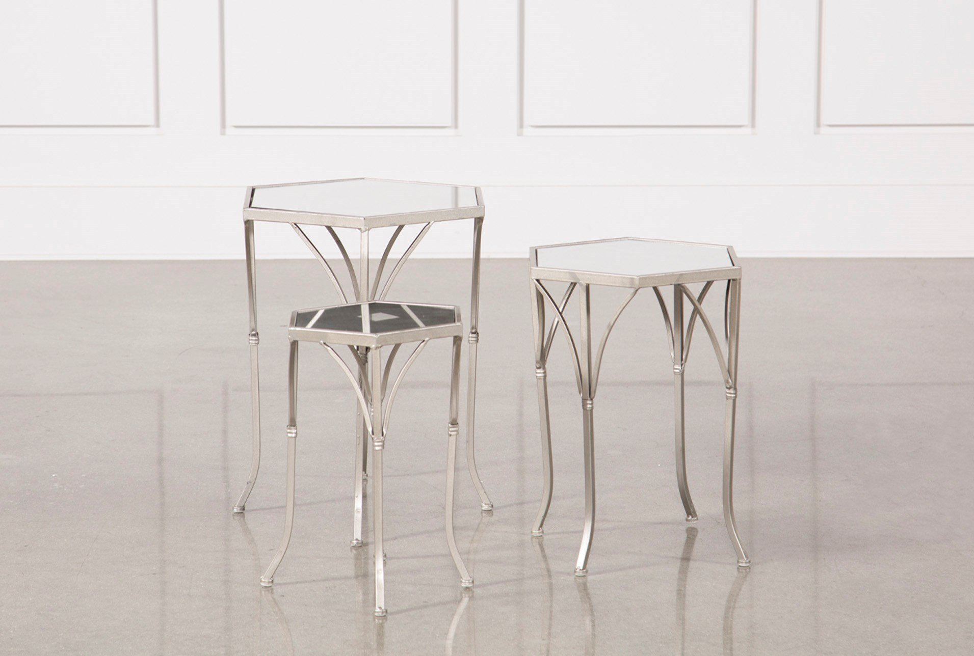 piece mirror accent tables living spaces metal table qty has been successfully your cart contemporary coffee decor bar and pub mango sideboard french braid quilt pattern runner