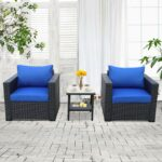 piece patio rattan wicker conversation chair set blue outdoor accent table single armchair sofa and side furniture black royal garden burgundy runner storage chest with matching 150x150