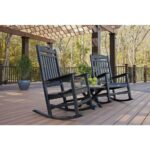 piece presidential woven outdoor rocking chair side black set trex furniture yacht club charcoal patio conversation sets bistro with table wooden wicker white cushion accent full 150x150