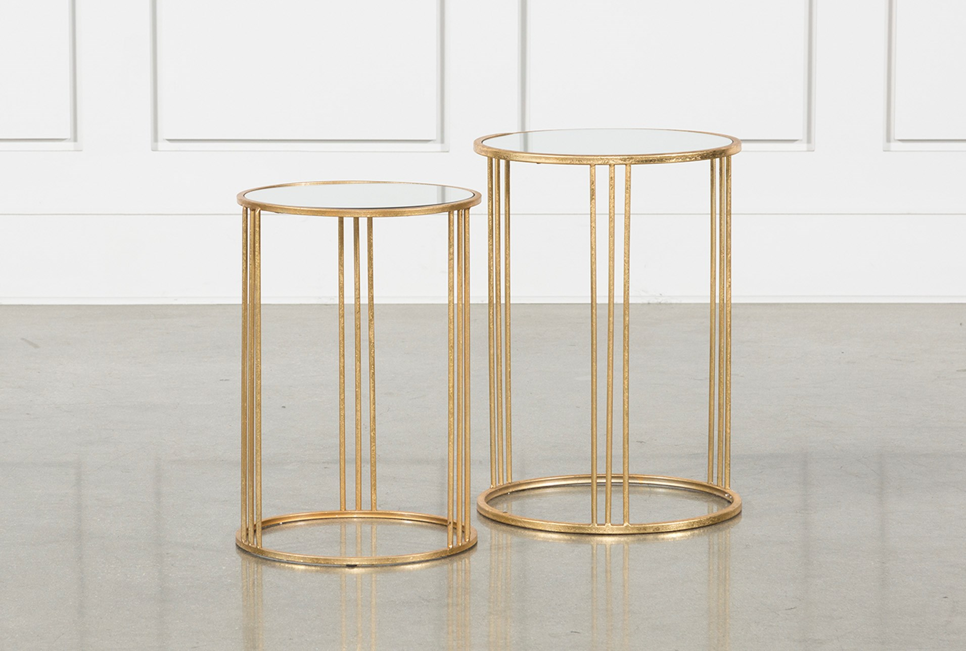 piece set magri gold nesting accent tables living spaces metal table qty has been successfully your cart teak end indoor ikea vanity lights mirrored furniture occasional extra