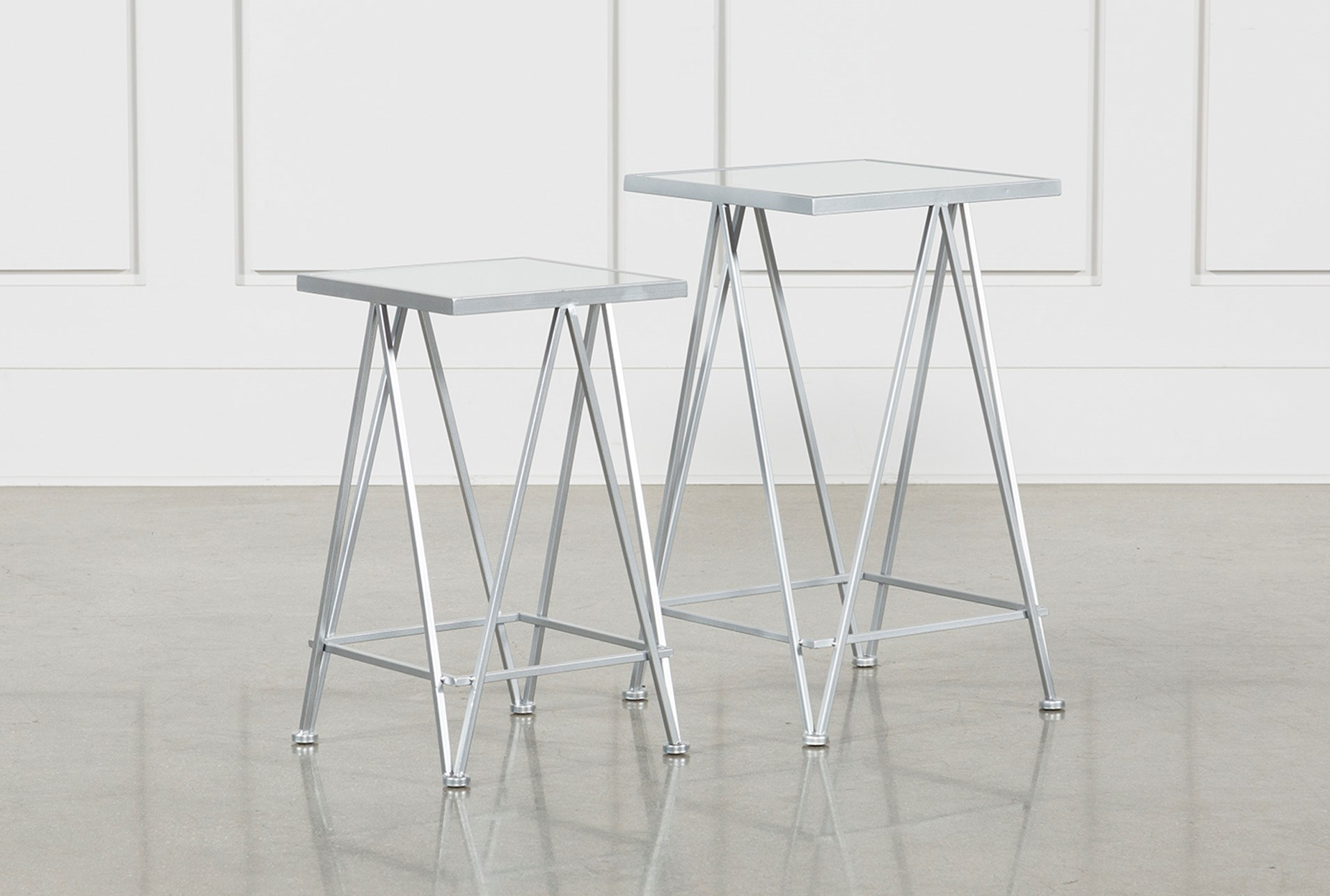 piece set metal and mirror side tables living spaces silver accent table qty has been successfully your cart round vinyl covers slim hallway console kids nautical lamp target