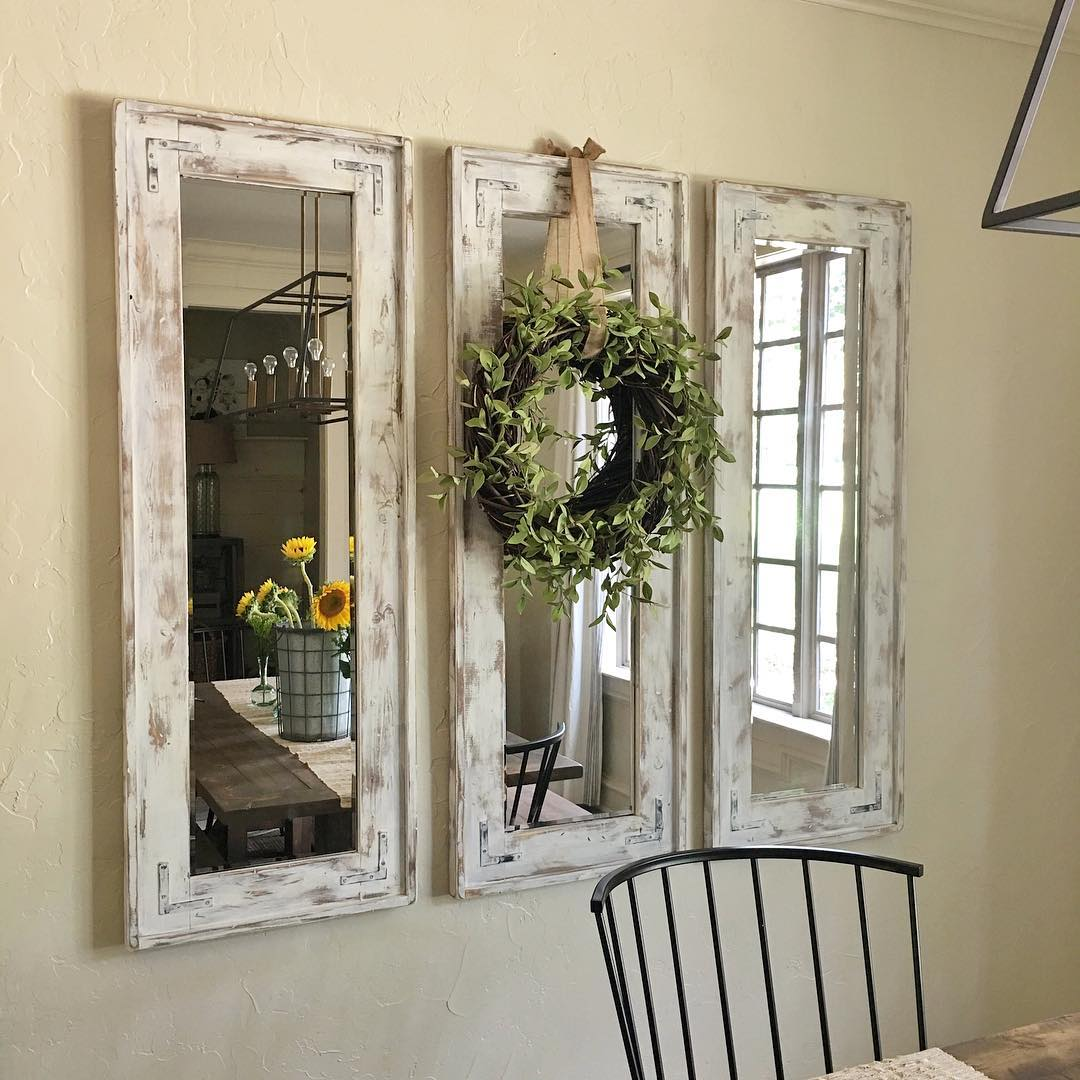 pieces farmhouse decor use all around the house framed wall mirrors style accent table small wood dining and chairs kitchen white leather trunk inexpensive coffee tables room