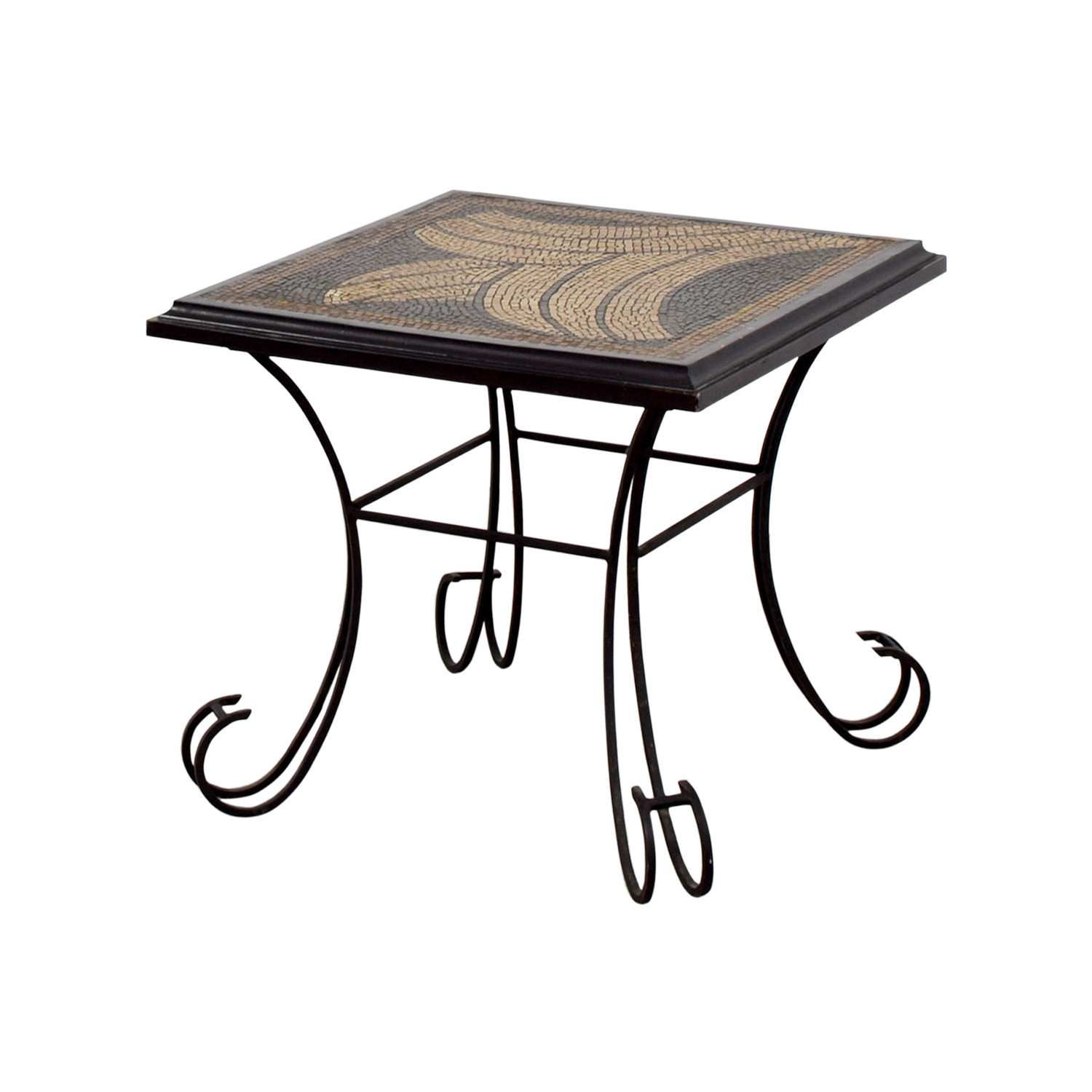 pier one accent tables for leaf table ideas trendy off imports hand painted anywhere bar height dining and chairs decorative boxes with lids pottery barn benchwright bunnings