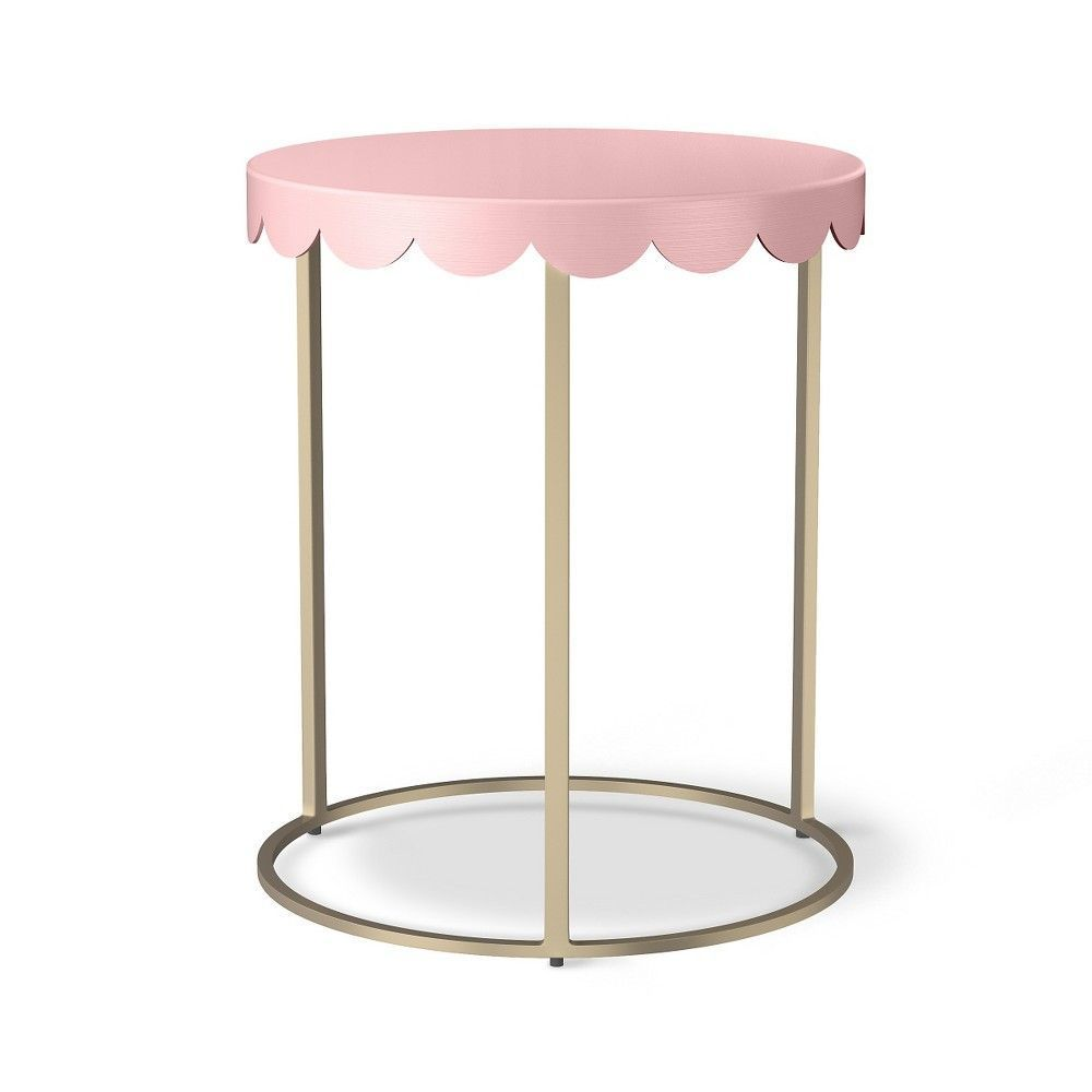 pillowfort scallop kids accent table target domino nursery dining room linens gear wall clock tall set metal small dark wood trunk coffee off white nightstand west elm media round