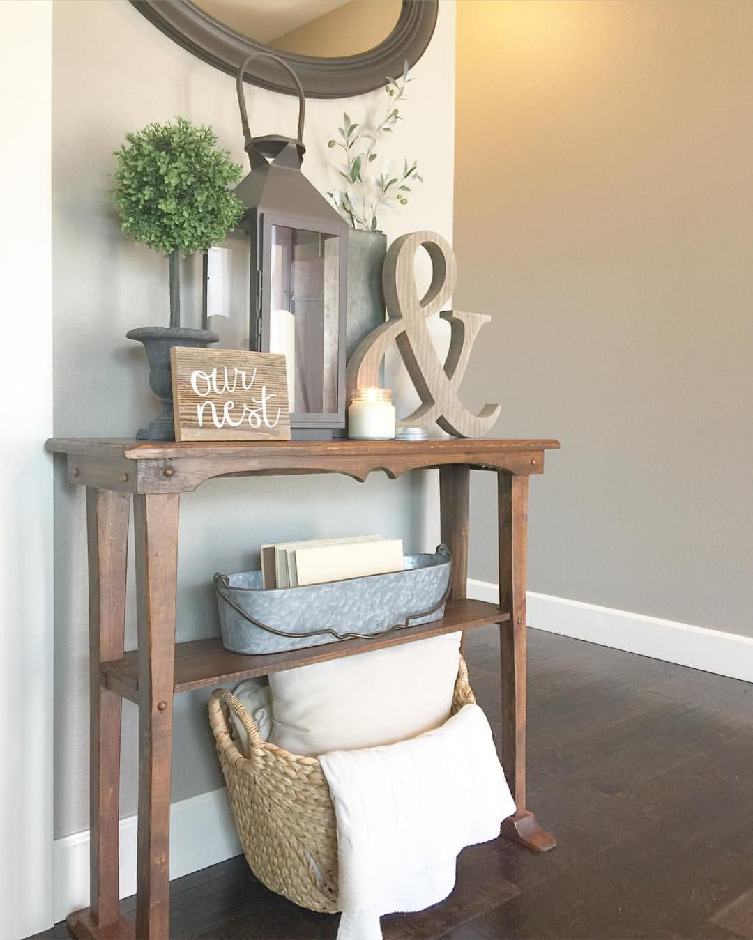 pin carol alger living room home decor house accent table ideas small hallway narrow entry entryway pottery barn black dining bedside and dressing chrome console plain cloths