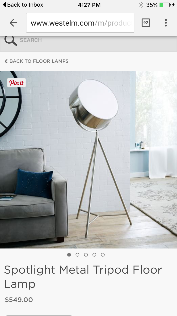 pin danielle stein living room rooms and accent spotlight table lamp west elm contemporary floor lamps are easy way update your home modern scale drama any skinny console coffee