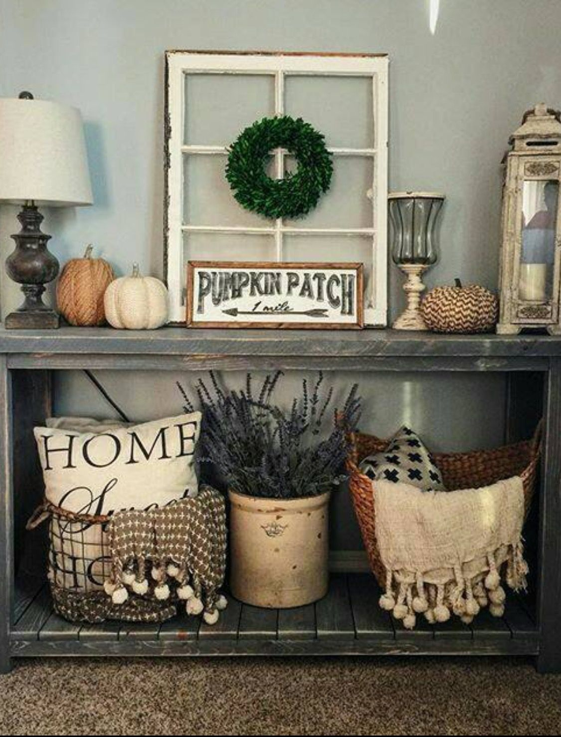 pin gerrianne decorating home decor farmhouse accent table rustic entry foyer tables entryway fall living room essentials west elm copper lamp sofa and end pottery barn dining
