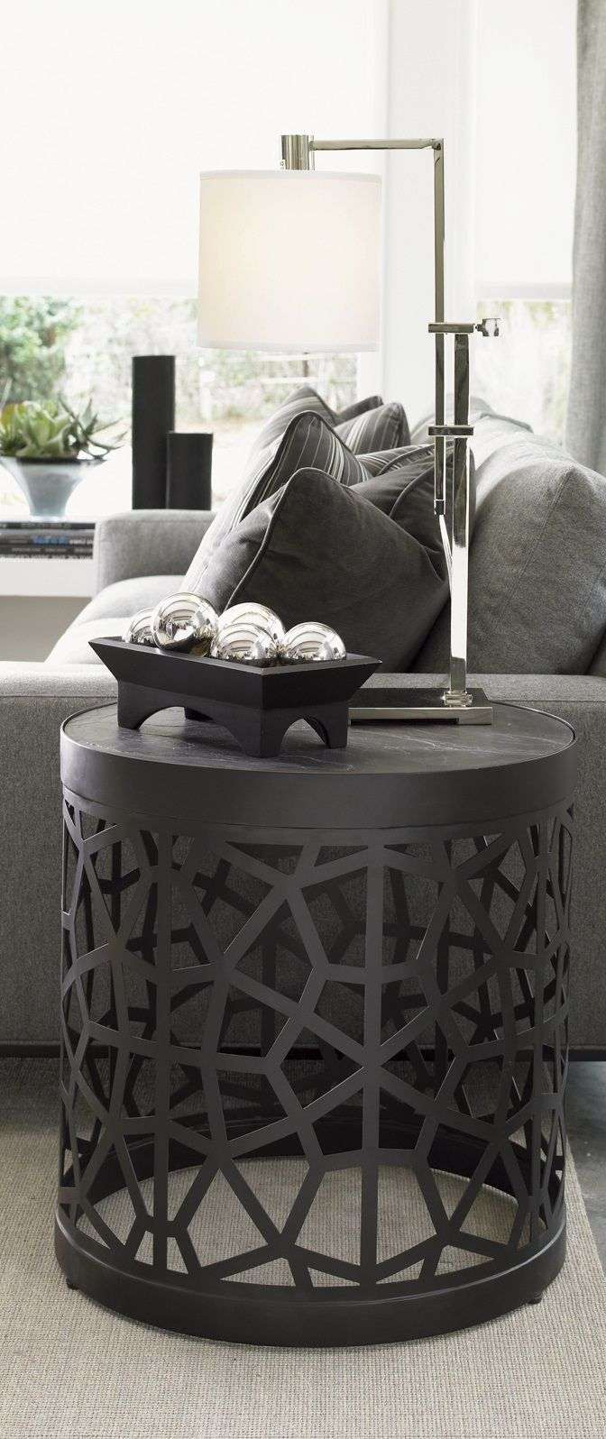 pin natalie monkelbaan modern interior design accent table ideas side tables end interiordesign casegoodsideas wipe clean tablecloth lamp homebase patio furniture outdoor sofa