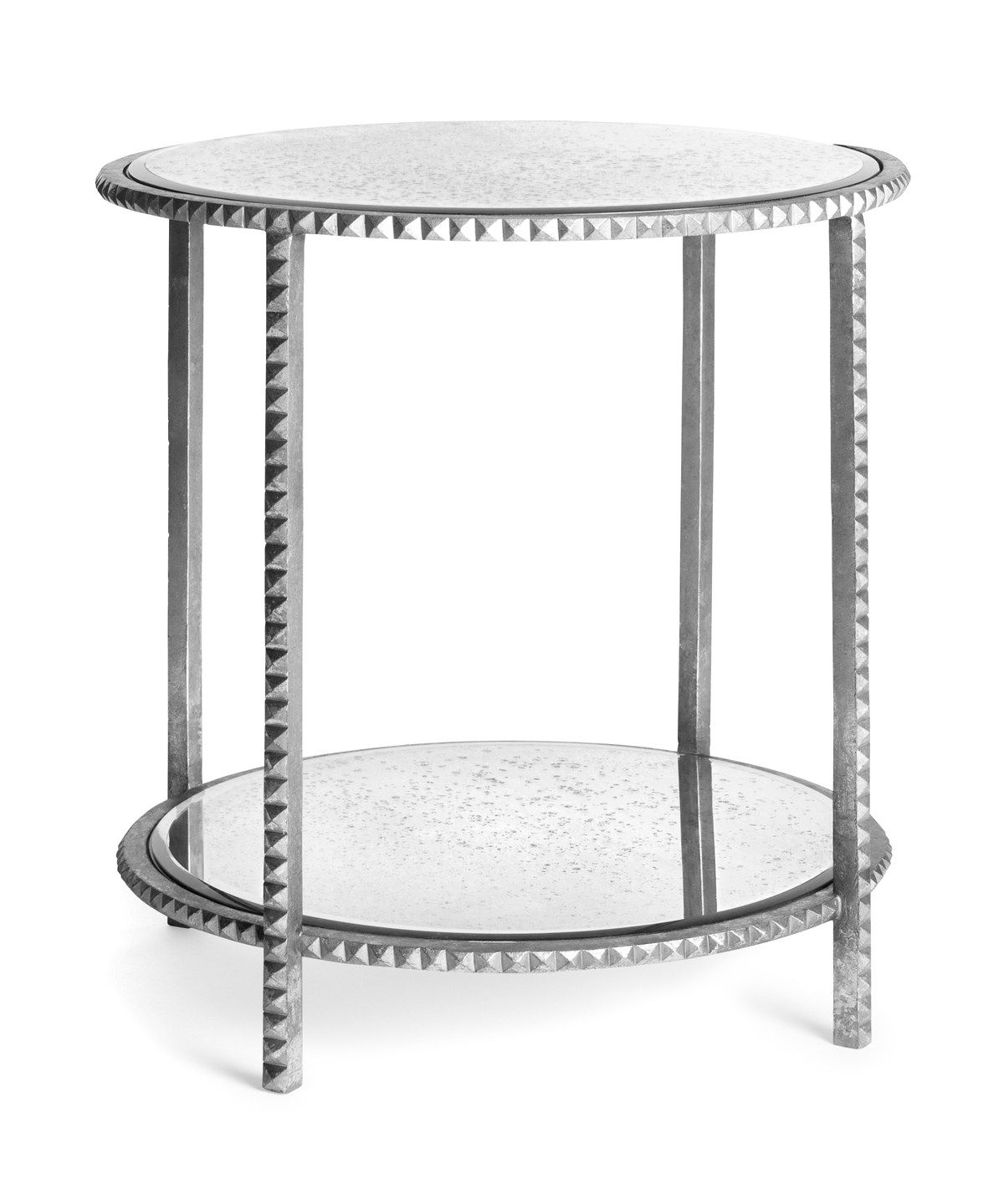 pin svz interior design napoli drive end tables table mirrored pyramid accent stud silver rock your room with this edgy beauty hand cast pottery barn bath country small kitchen