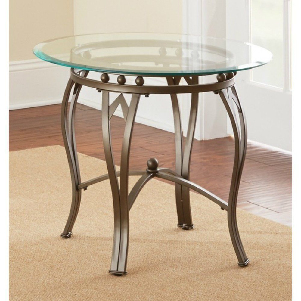pin tina krause living rooms and room round glass accent table metal end creates piece that accents modern furnishings entries hallways steel wood tables nickel lamp home