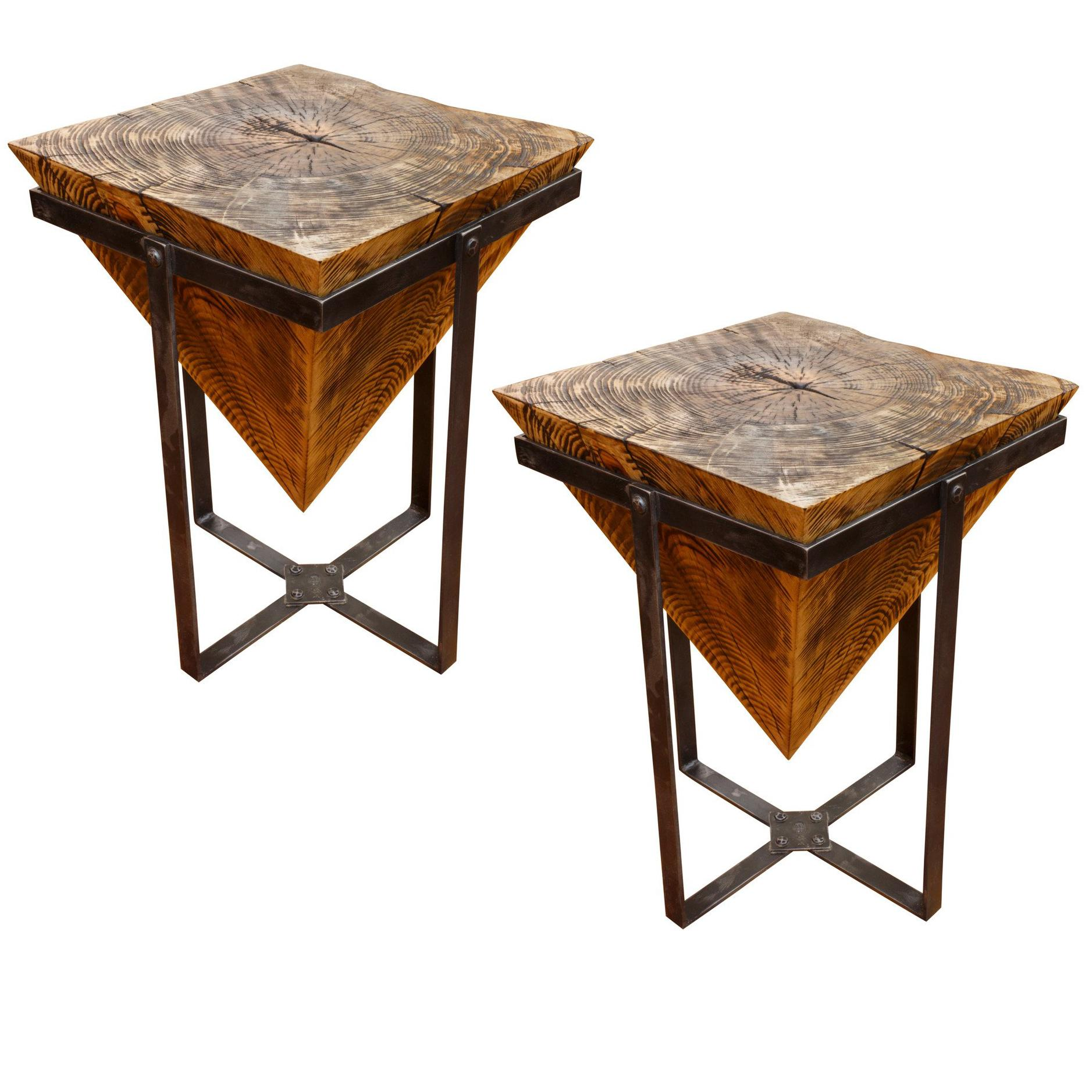 pine pyramid side tables for master mirrored accent table glass entry black wood coffee pottery barn bath white bedside with drawers gold and silver sofa reviews mahogany nest