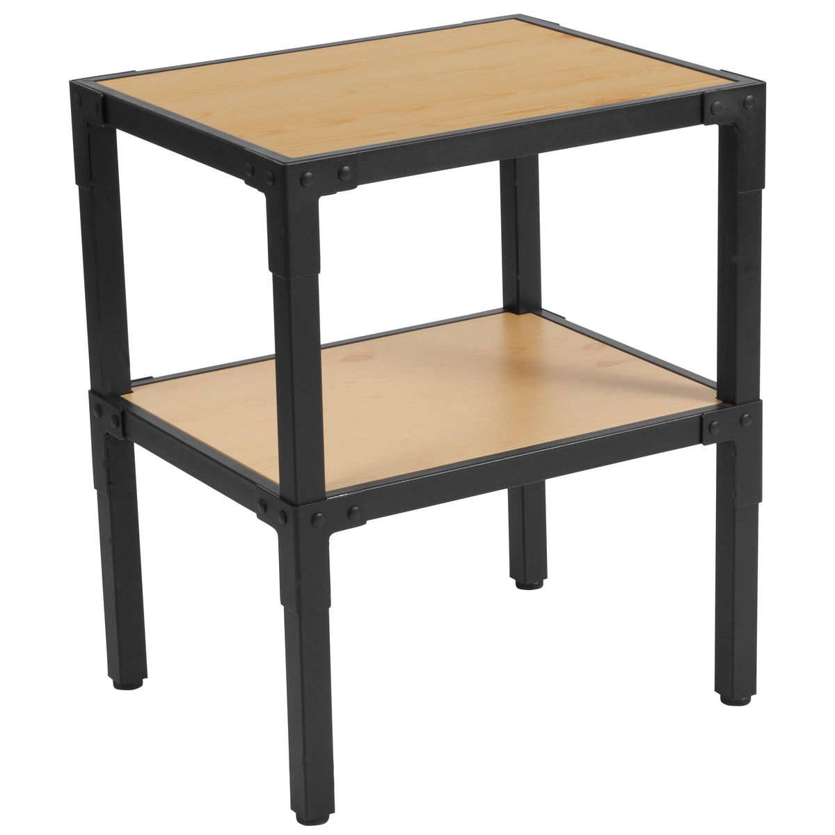 pine wood side table nan bizchair flash furniture main outdoor our holmby collection knotted grain finish with black metal legs sears coffee big garden umbrella west elm acorn