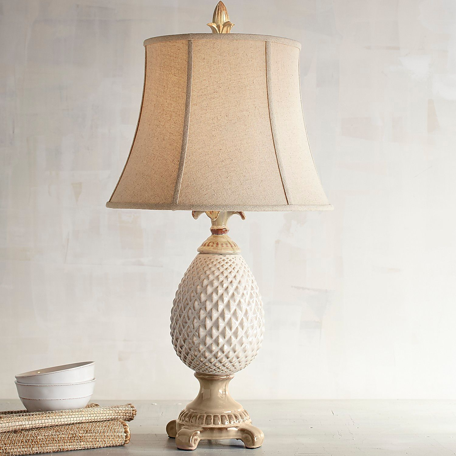 pineapple table lamp pier imports one accent lamps metal tray beach farm white legs small console cabinet glass fancy bedside tables modern dining room sets that use batteries
